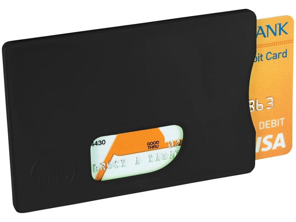 Защитный RFID чехол для кредитной каты, черный
