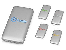 Портативное зарядное устройство XOOPAR BUBBLE BANG, 5 цветов подсветки, 5000 mAh, серебристый (артикул 966100)