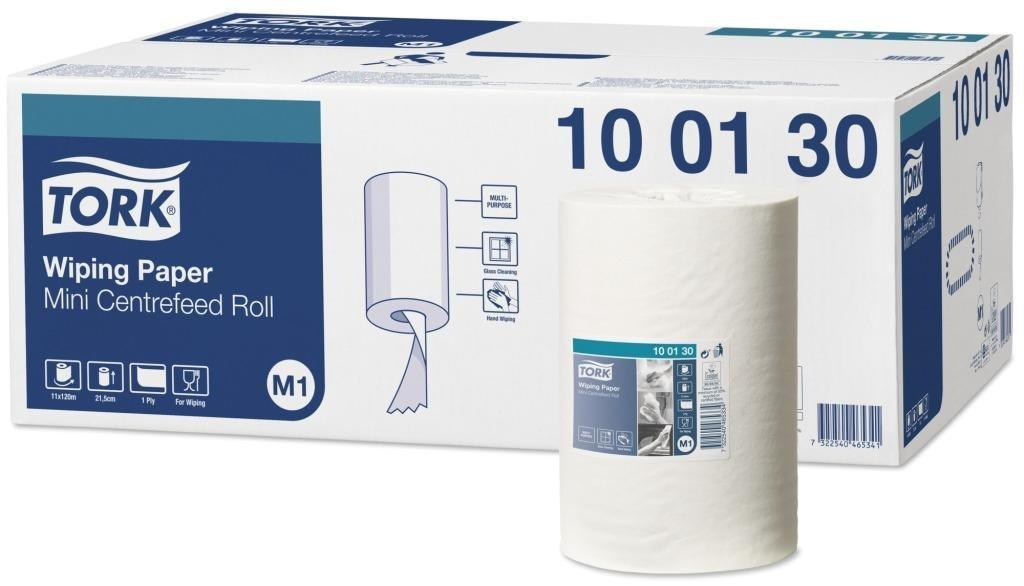 Базовая протирочная бумага Tork Universal в мини рулоне с центр. вытяжкой, 1 сл., бел., бум., 120 м/рул.