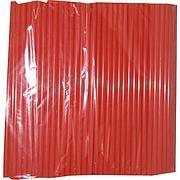 Трубочки д/коктейля прямые d=8мм L=240мм, оранжевые 250шт/упак, 250 шт