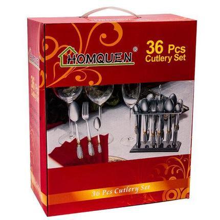 Набор столовых приборов из 36 предметов HOMQUEN на 12 персон, фото 2