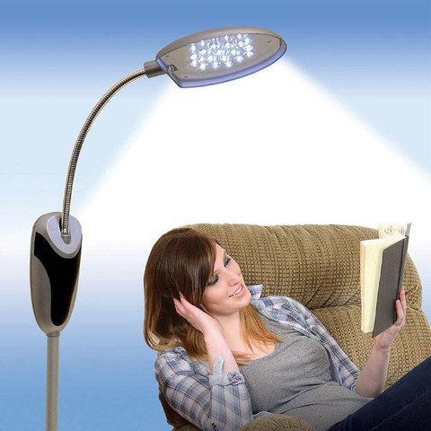 Лампа-торшер с гибкой ножкой 16 LED Cordless Anywhere Lamp