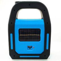 Фонарь кемпинговый светодиодный на солнечной батарее со встроенным аккумулятором 3 в 1 Hurry bolt HB9707A, фото 2
