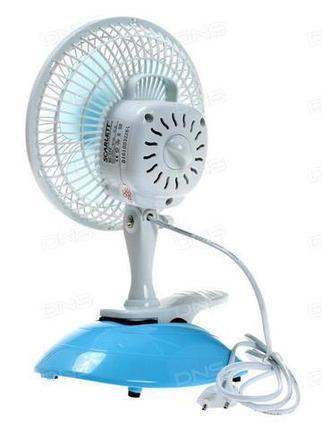 Вентилятор электрический настольный с подвесным креплением HEADLINER FT-15A [15 Вт], фото 2