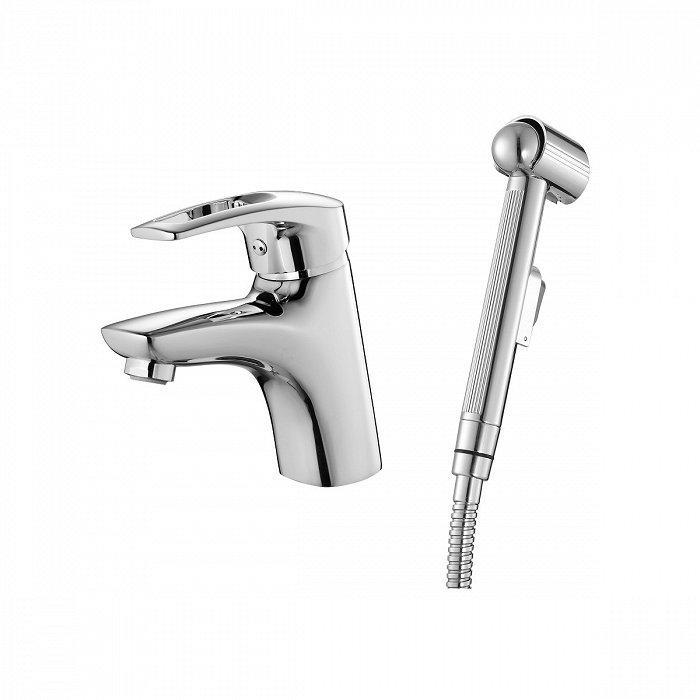 Смеситель IDDIS Carlow Plus для умывальника с гигиеническим душем