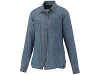 Рубашка Sloan с длинными рукавами женская, джинс, фото 1