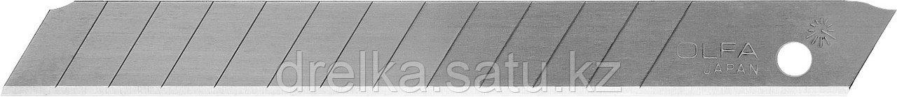 Лезвия OLFA сегментированные из нержавеющей стали, 9х80х0,38мм, 13 сегментов, 50шт
