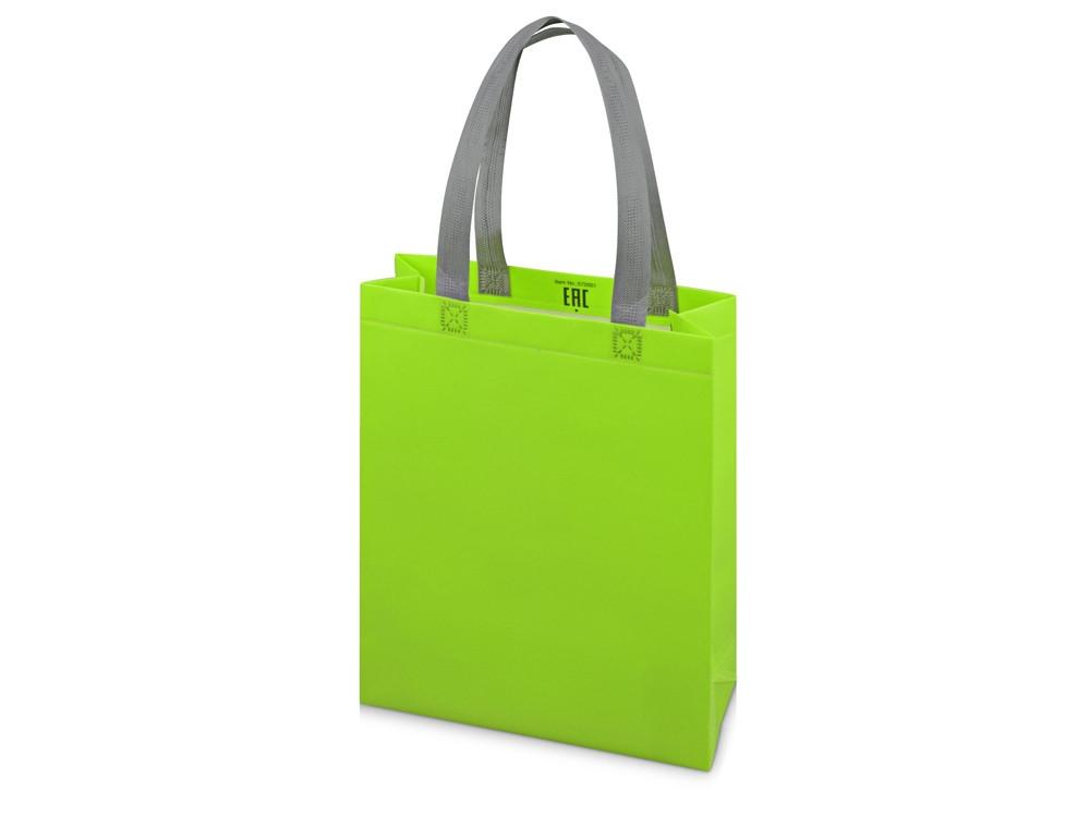 Сумка для шопинга Utility ламинированная, зеленое яблоко матовый