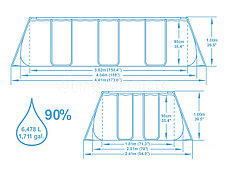 Каркасный бассейн Bestwey 56442 (404 х 201 х 100 см, на 6478 литра ), фото 2