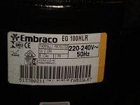 Компрессор Embraco  EGAS 100 HLR; (R-134a)