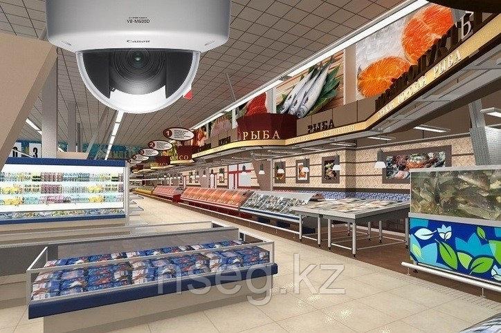 Установка систем видеонаблюдения в магазине, супермаркете