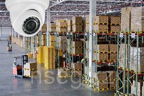 Установка систем видеонаблюдения на складе
