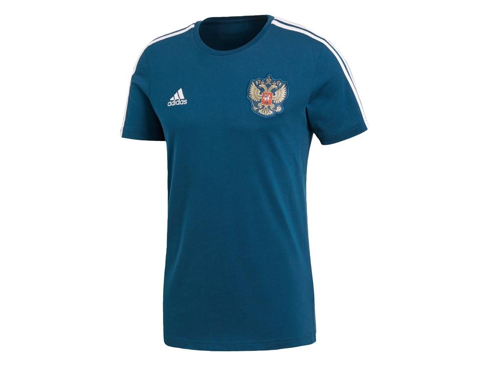 Футболка РОССИЯ 3-STRIPE. adidas, синий/белый