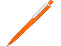 Ручка пластиковая трехгранная шариковая Lateen, оранжевый/белый (артикул 13580.13)
