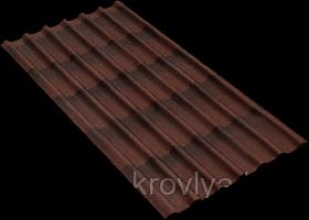 Ондулин черепица (цвет коричневый)