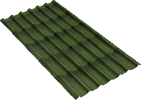 Ондулин черепица (цвет зеленый), фото 1