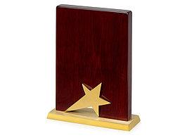 Награда Galaxy с золотой звездой, дерево, металл, в подарочной упаковке (артикул 602205)