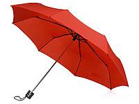 Зонт складной Columbus, механический, 3 сложения, с чехлом, красный, фото 1