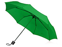 Зонт складной Columbus, механический, 3 сложения, с чехлом, зеленый, фото 1