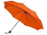 Зонт складной Columbus, механический, 3 сложения, с чехлом, оранжевый, фото 1