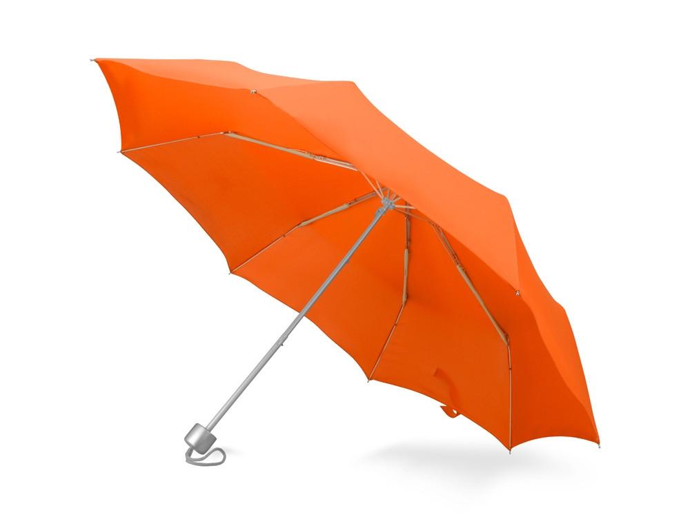 Зонт складной Tempe, механический, 3 сложения, с чехлом, оранжевый