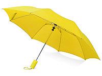 Зонт складной Tulsa, полуавтоматический, 2 сложения, с чехлом, желтый, фото 1