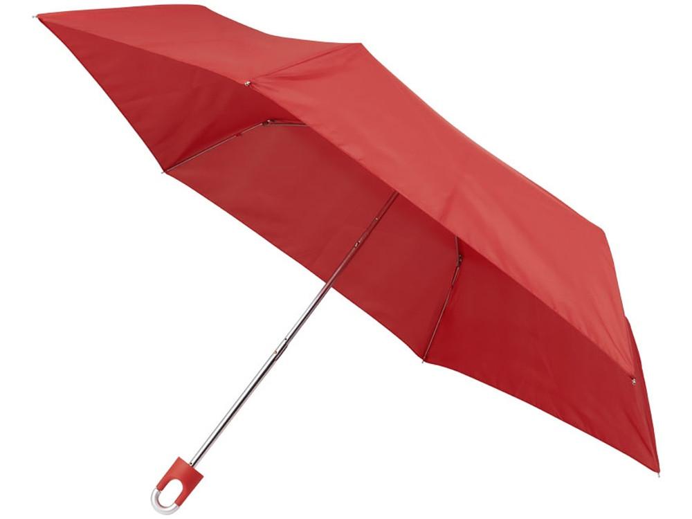 Складной зонт Emily 21 дюйм с карабином, красный