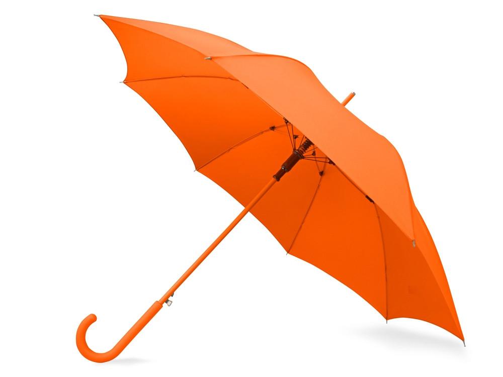 Зонт-трость Color полуавтомат, оранжевый