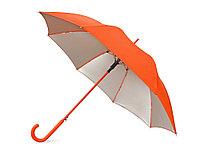 Зонт-трость Silver Color полуавтомат, оранжевый/серебристый, фото 1