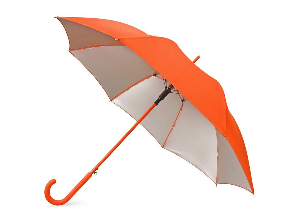 Зонт-трость Silver Color полуавтомат, оранжевый/серебристый