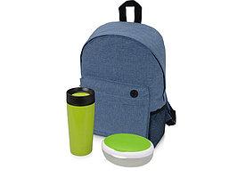 Подарочный набор Lunch с термокружкой, ланч-боксом, зеленый (артикул 700356.01)