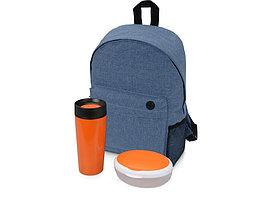 Подарочный набор Lunch с термокружкой, ланч-боксом, оранжевый (артикул 700356.02)