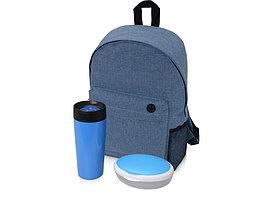 Подарочный набор Lunch с термокружкой, ланч-боксом, синий (артикул 700356.03)
