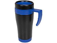 Кружка-термос Cayo 400 мл, черный/синий, фото 1
