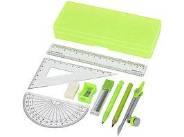 Школьный набор для геометрии Julia из 9 предметов, зеленый (артикул 10733302)