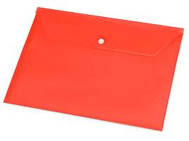 Папка-конверт А4 с кнопкой, красный (артикул 19114)