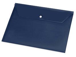 Папка-конверт А4 с кнопкой, синий (артикул 19116)