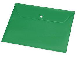 Папка-конверт А4 с кнопкой, зеленый (артикул 19118)