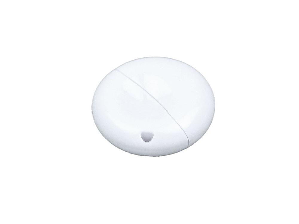 Флешка промо круглой формы, 16 Гб, белый