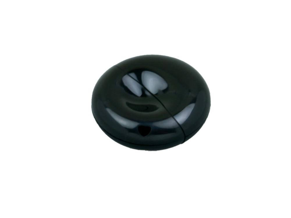Флешка промо круглой формы, 16 Гб, черный