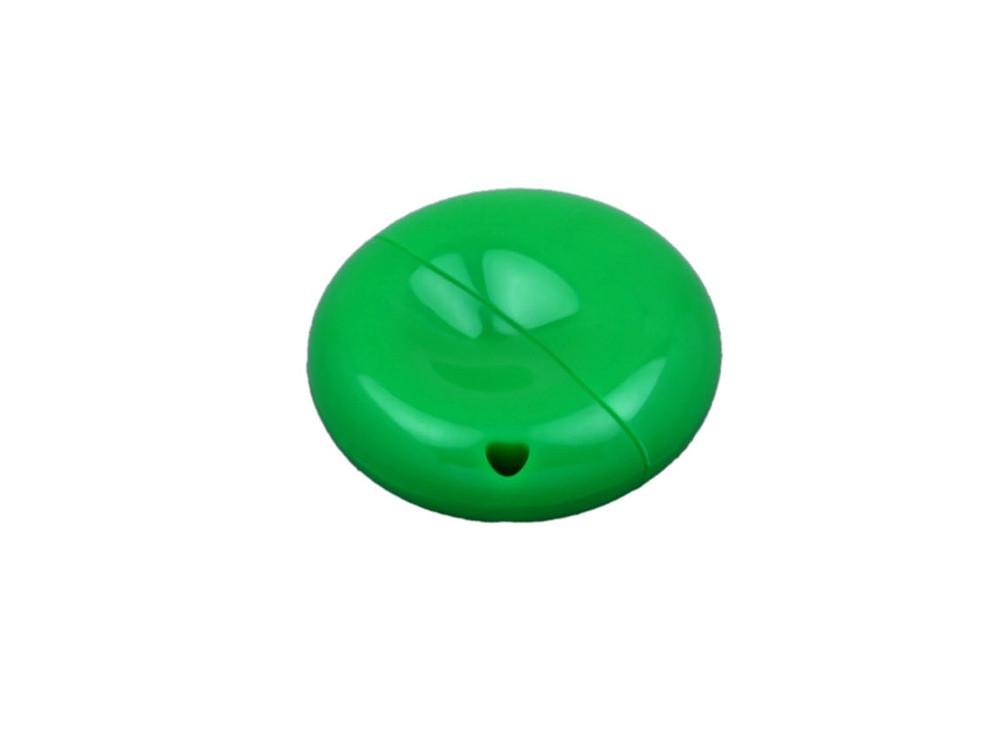 Флешка промо круглой формы, 16 Гб, зеленый