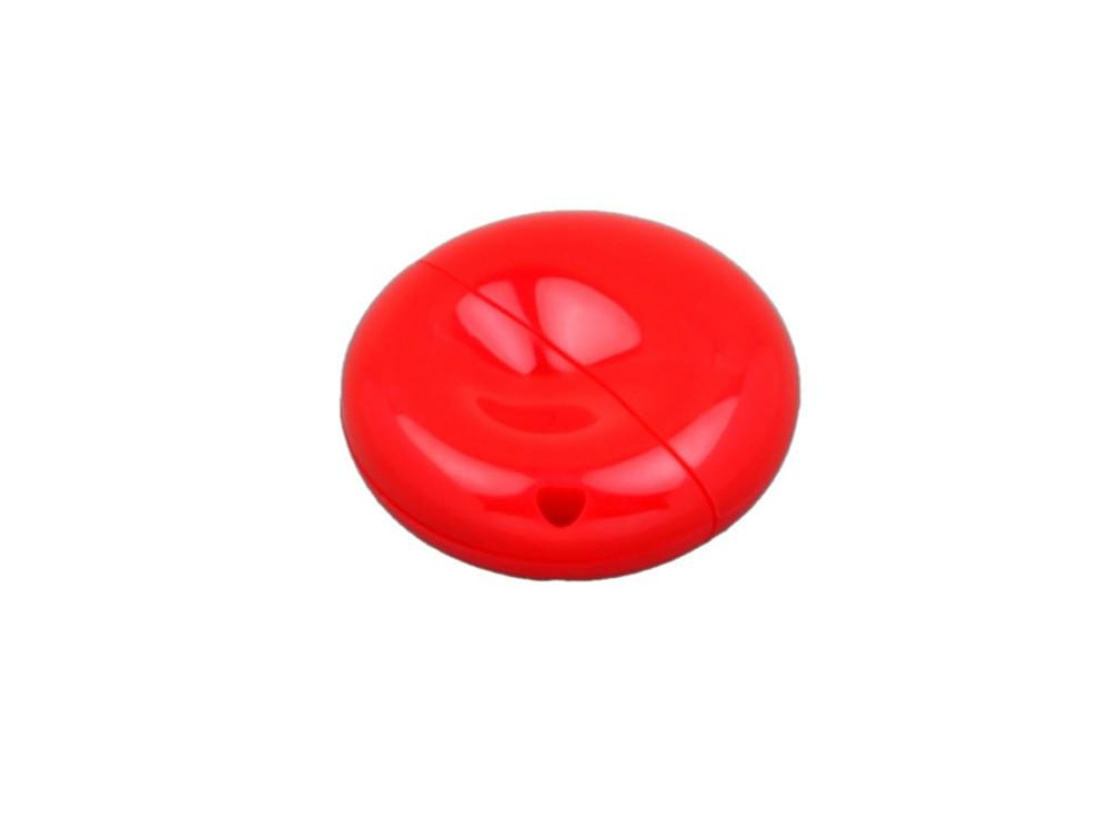 Флешка промо круглой формы, 64 Гб, красный