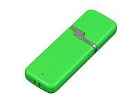 Флешка промо прямоугольной формы c оригинальным колпачком, 32 Гб, зеленый, фото 1