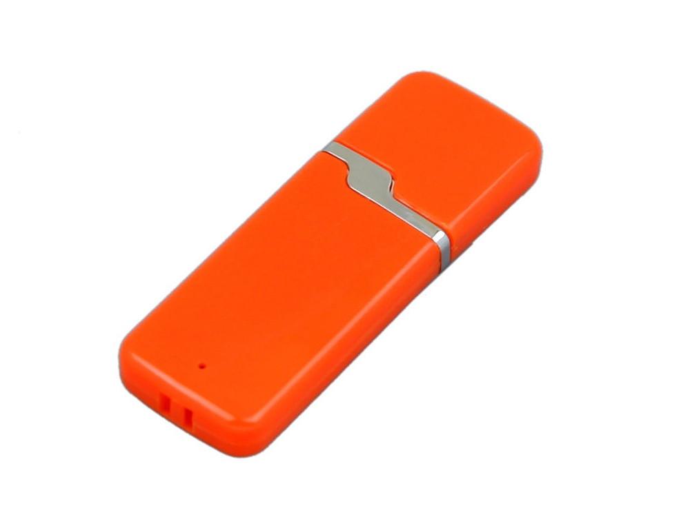 Флешка промо прямоугольной формы c оригинальным колпачком, 32 Гб, оранжевый