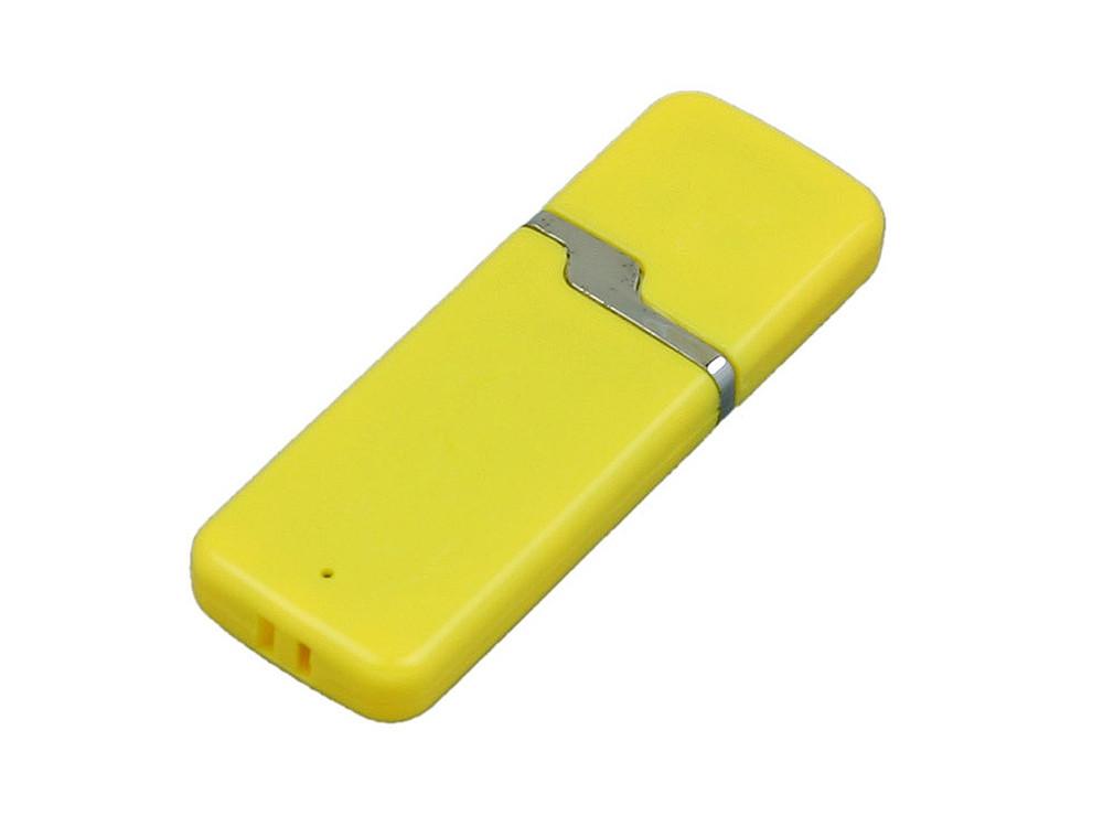 Флешка промо прямоугольной формы c оригинальным колпачком, 32 Гб, желтый