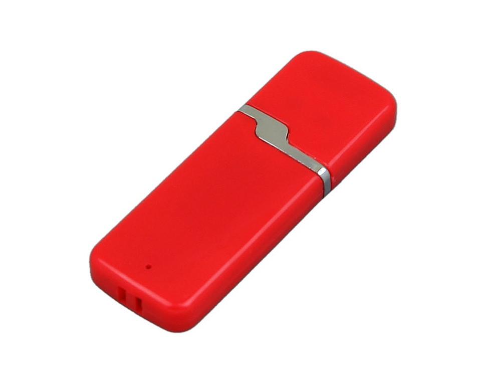 Флешка промо прямоугольной формы c оригинальным колпачком, 64 Гб, красный