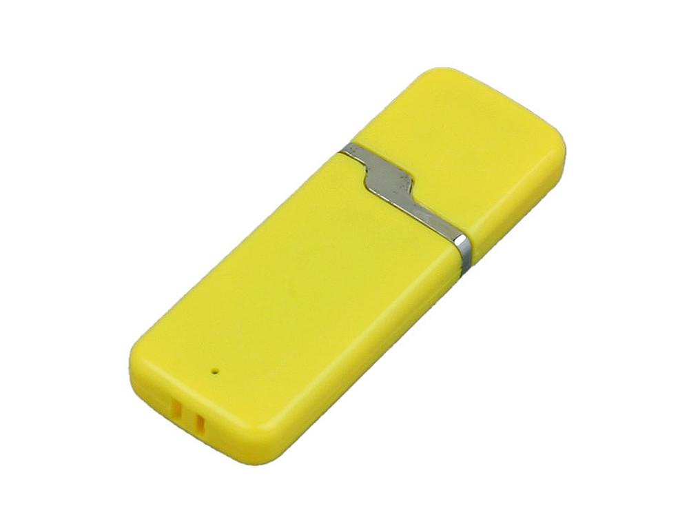 Флешка промо прямоугольной формы c оригинальным колпачком, 64 Гб, желтый (артикул 6004.64.04)