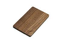 Флешка в виде деревянной карточки с выдвижным механизмом, 16 Гб, коричневый, фото 1