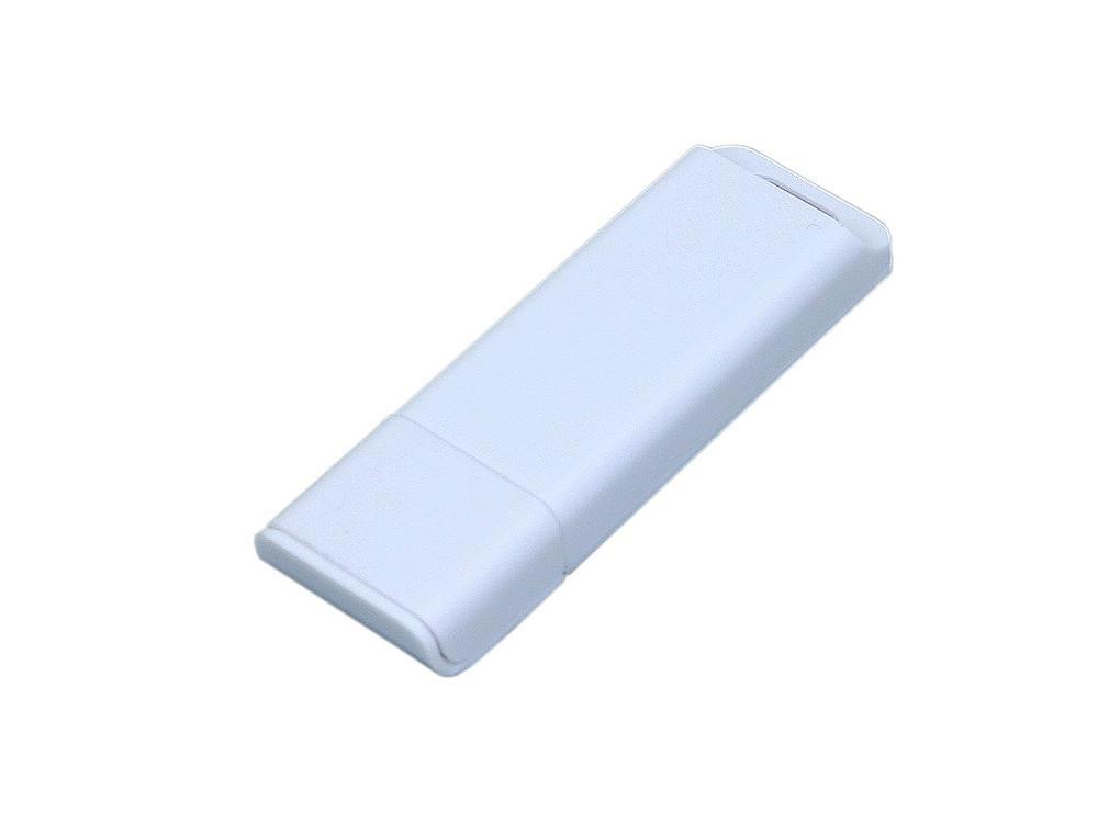 Флешка прямоугольной формы, оригинальный дизайн, двухцветный корпус, 16 Гб, белый (артикул 6013.16.06)