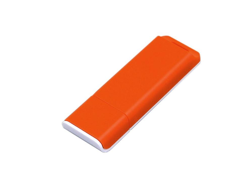 Флешка прямоугольной формы, оригинальный дизайн, двухцветный корпус, 32 Гб, оранжевый/белый